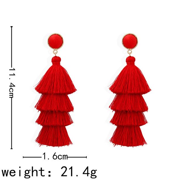 Long Dangle Tassel Earrings For Women
