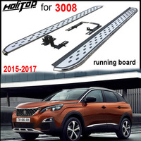 hot nerf bar foot board side step For Peugeot NEW 3008 2017 2018,most popular style,hot sale in China as very stable quality