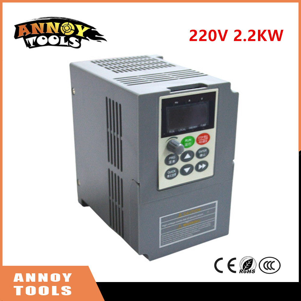 2.2KW 220V single phase input frequency inverter 9.6A, 220v 3 phase output mini frequency drive converter V8 series