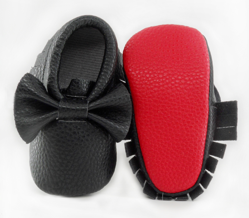 Shoes New Born Baby First Walker Boys Girls Soft Shoes Baby Moccasins PU Leather Fringe Baby Christmas Footwear Crib Shoe