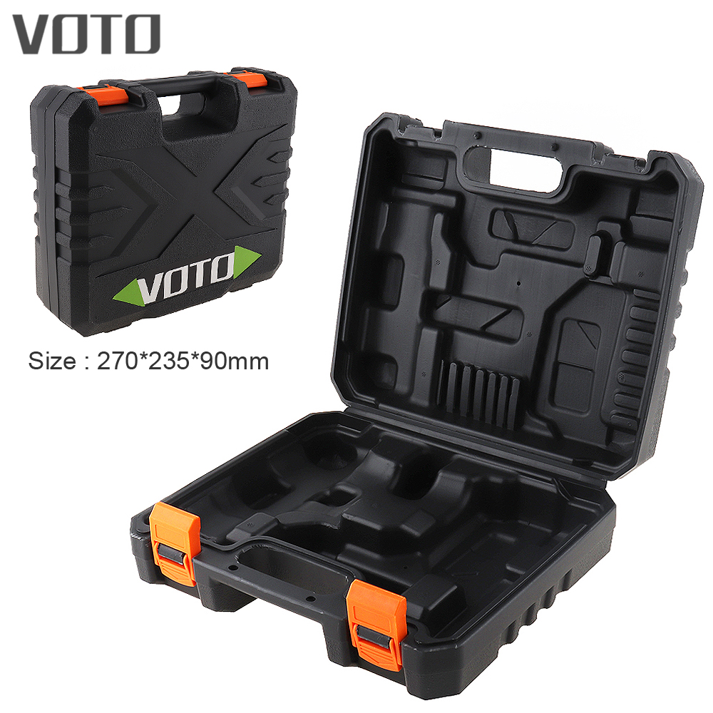 VOTO Power Tool Suitcase 21V Electric Drill Dedicated Load Tool Box with 270mm Length and 235mm Width for Lithium Drill