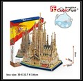 Educational toy 1pc CubicFun Spain Sagrada Familia 3D paper DIY jigsaw puzzle famous assembling model building kits boy gift toy