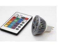 MR16 RGB LED Spot light,3*1W;DC12Vinput