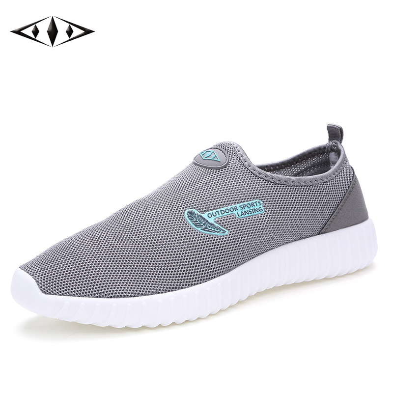 LEMAI Leisure Women Shoes Breathable Mesh Running Shoes Light Cool Summer Outdoor Sport Blue Sneakers Big Size 40-44 016-2