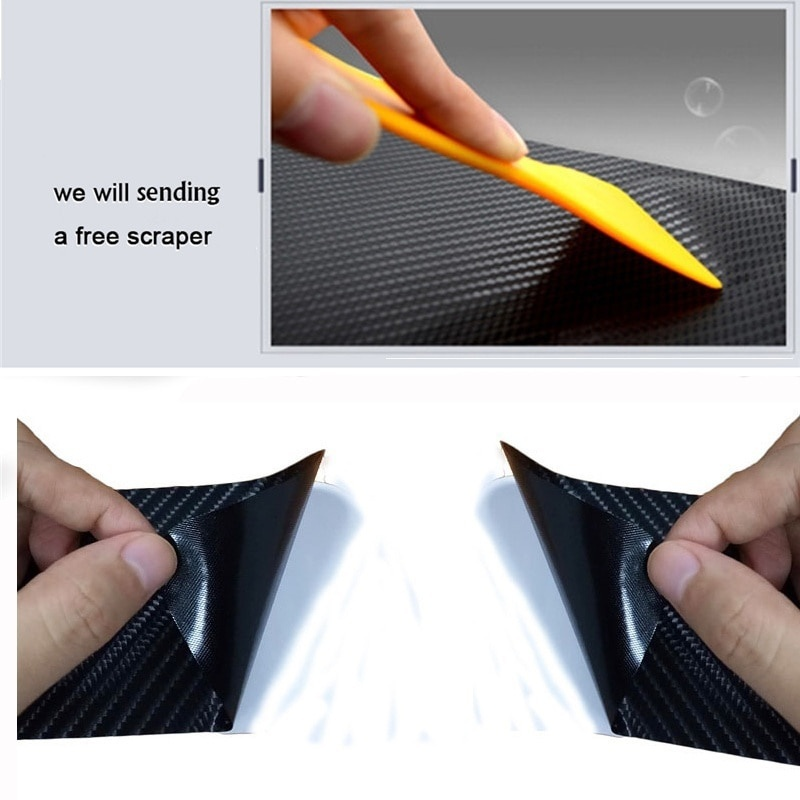 4PCS carbon fiber vinyl sticker Car Door Sill Scuff Plate for KIA SOUL Parts Accessories in Car Stickers from Automobiles Motorcycles