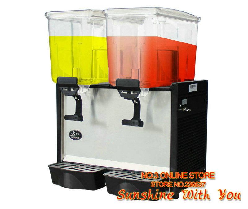 Cold drink machine cooling two barrels blender 17L 2 volume cold drink dispenser