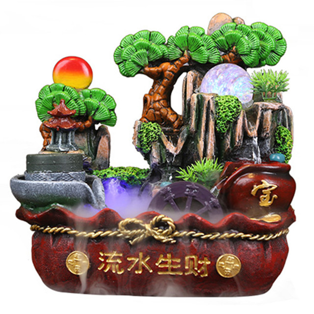 Lucky Feng Shui Statue Fish Pond Water Control Home Accessories Rockery Water  Fountain Decoration Humidifier