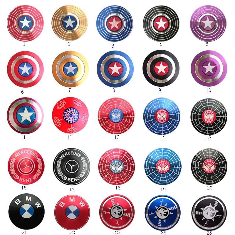 Wholesale  Captain America Fidget Spinner Metal Tri Spinners Hand Figet Finger Spiner GyroToys For Anti Stress Children Kid Gift