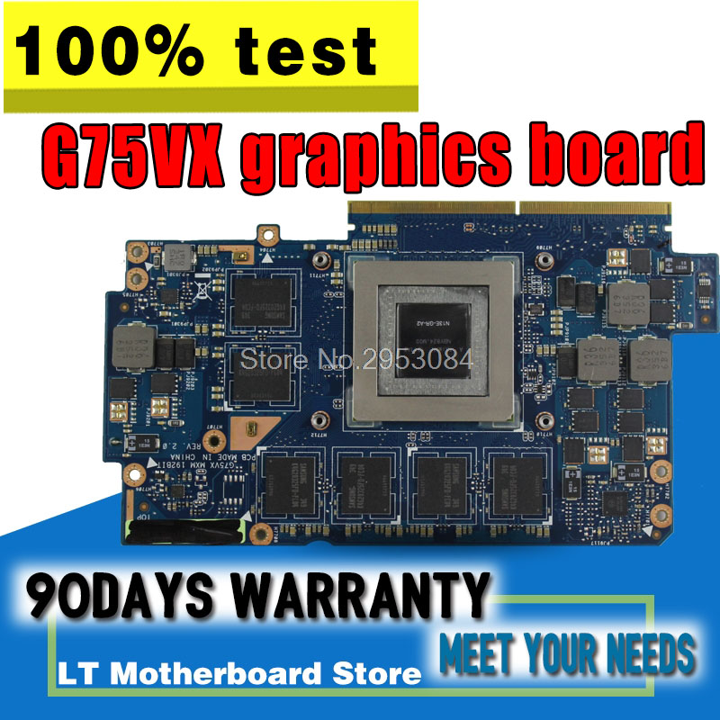Original Video card For ASUS notebook G75V G75VX 3GB GTX670M Highest configuration N13E-GR-A2 graphic card