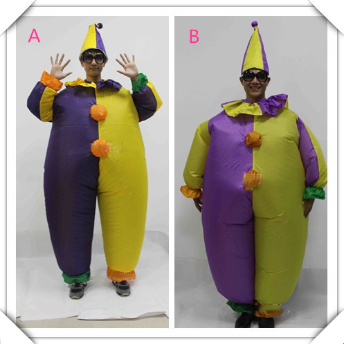 Clown Inflatable Costume Adult Fancy Suit Carnival Party Clothing Halloween Costume Funny Inflatable Costumes For Adult