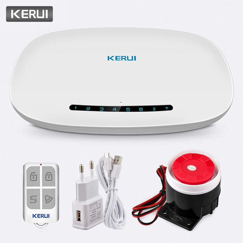 KERUI W19 Auto Dial Wireless Home Security GSM GPRS Anti Theft Alarm System APP Control Message