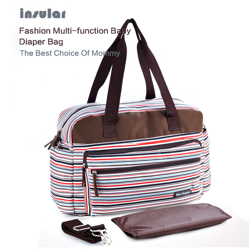 Fashion Mother Care Baby organizer Diaper Bag Capacity Stripe Stroller Storage Multifunctional Maternity Shoulder Bags for Mom