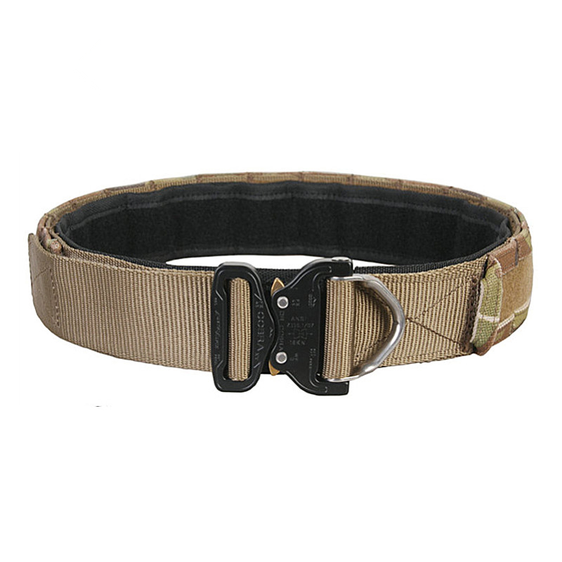 Waist Support Airsoft Cobra1.75-2inch One-pcs Combat Belt Nylon Support Hunting Tactical Heavy Duty Buckle Pistol EDC Belt Waist