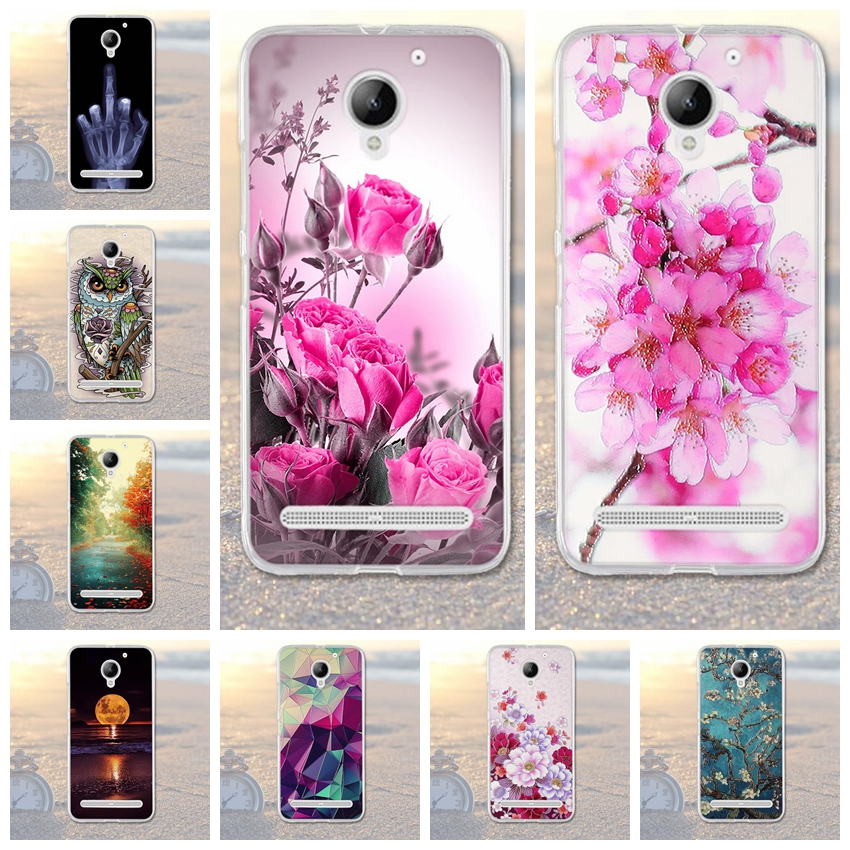 Coque For <font><b>Lenovo</b></font> Vibe <font><b>C2</b></font> <font><b>Case</b></font> Fashion Pattern <font><b>Case</b></font> Transparent Silicone Cover For <font><b>Lenovo</b></font> <font><b>C2</b></font> Power <font><b>k10a40</b></font> Soft Silicone <font><b>Case</b></font> image