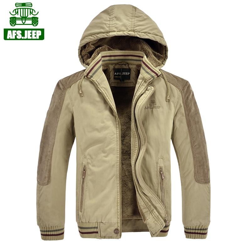 2016 new brand-clothing AFS JEEP parka men campera hombre invierno 2016 plus size M-5XL cotton winter jacket men parka hombre918 brand new m 5xl y169