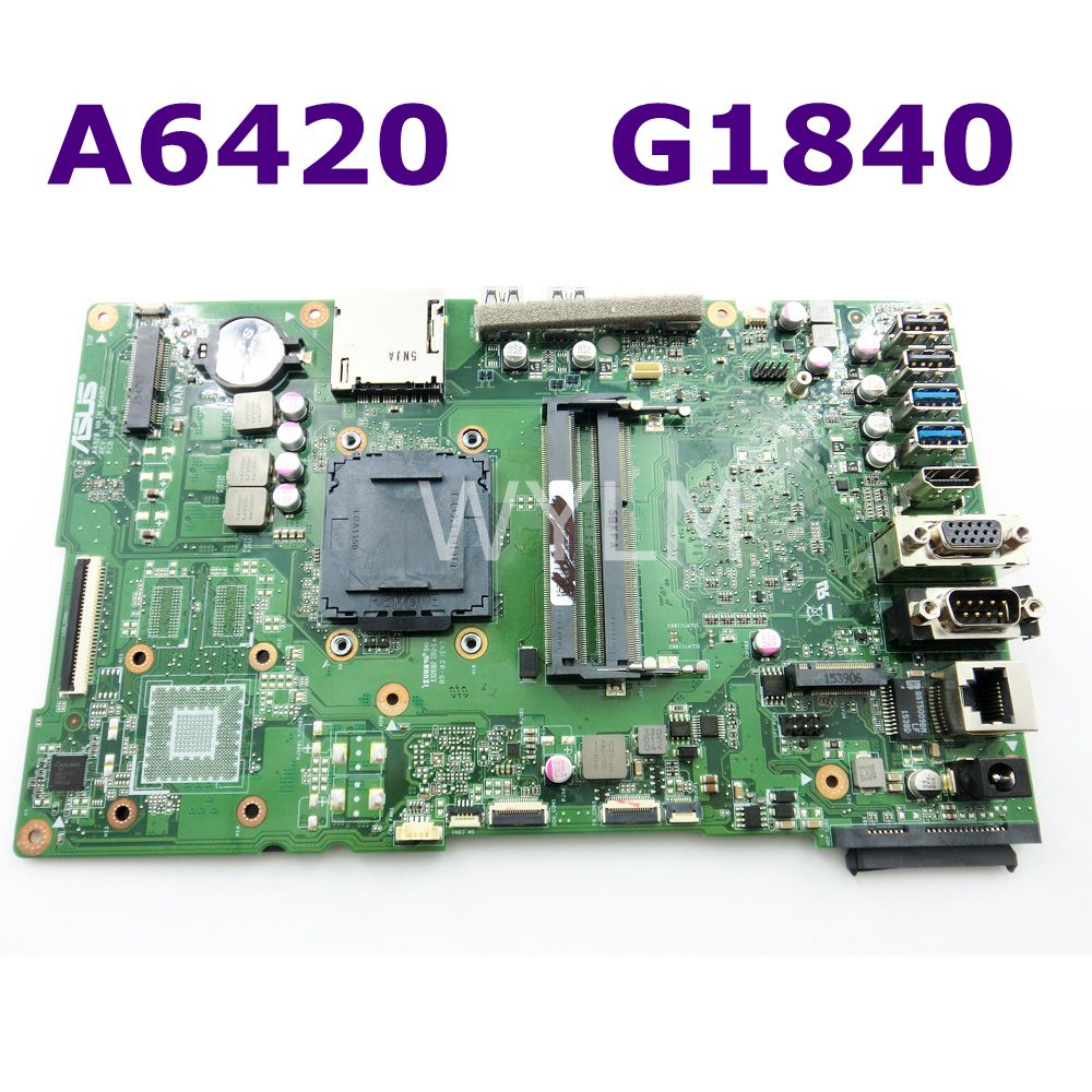 лучшая цена A6420 MAIN_BD._/UMA/TPM With G1840 Motherboard For ASUS A6420 All in one Desktop Mainboard 90PT01B0-R02000 DDR3 1600MHz Test OK