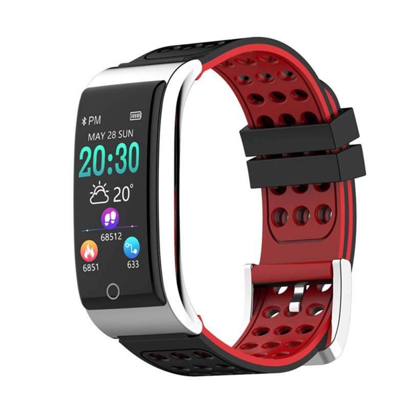 Color Screen Smart Bracelet Heart Rate Blood Pressure Monitoring Sports Fitness Watch For IOS / Android Relogio Masculino