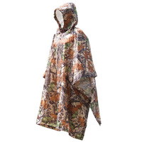 Adult Poncho Jungle Camouflage Camouflage Hiking Mountaineering Raincoat Electric Car Riding Poncho|Raincoats|   -