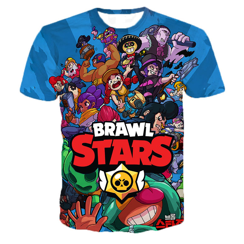 New Arrival Personaity Game Brawl Stars 3D Printed   T     Shirts   Spring Tops Summer Tees Men Women Short Sleeve Casual   T     Shirts