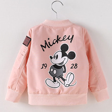 Kids Coat Mickey's Clothes Fashion Baby Clothing Mickey Girls Boys Jackets Toddler Autumn Spring Outwear Baseball Windbreaker