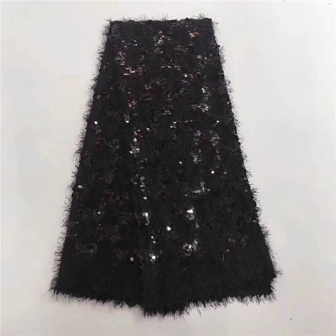 2018 African sequins tulle lace Hot new for Multi Color guipure african sequence cord lace fabric