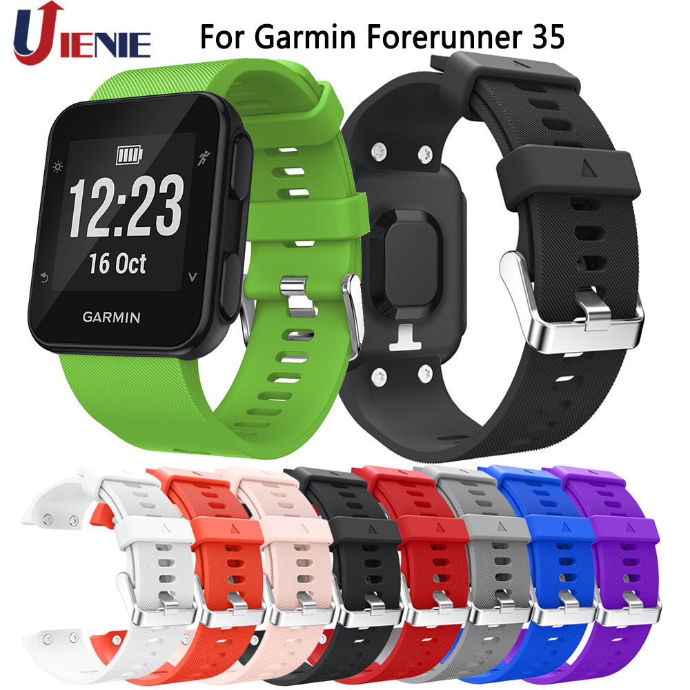 For Garmin Forerunner 35 30 Bracelet Watch Band Wrist Straps Smart Watchband Colorful Silicone Strap Replaceable Wristband Strap
