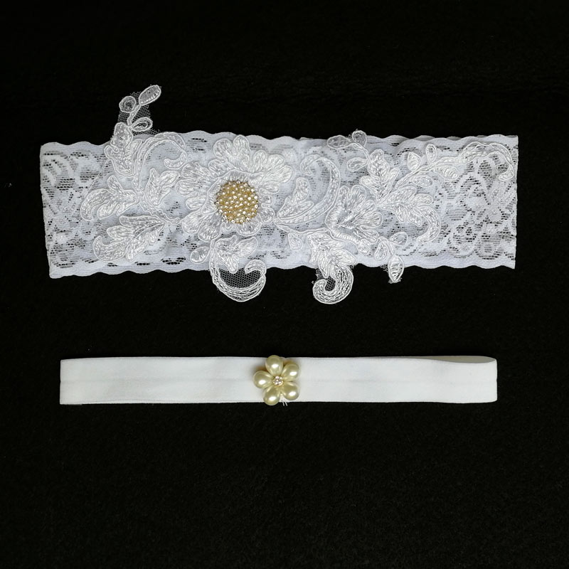 Garters Hospitable Bridal Garters New White Embroidery Floral Rhinestone Beading Sexy Wedding Garters For Bride Lace/rubber Band Leg Garters Wg012 Women's Intimates