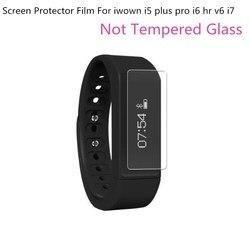 2Pcs Ultrathin Soft (Not Tempered Glass) Screen Protector Film For iwown i5 plus pro i6 hr v6 i7 Smart Wristband Bracelet