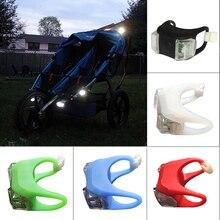 Ночник-светильник для детской коляски, водонепроницаемый силиконовый предупреждающий светильник, наружный, напоминающий о безопасности, светодиодный сигнальный фонарь