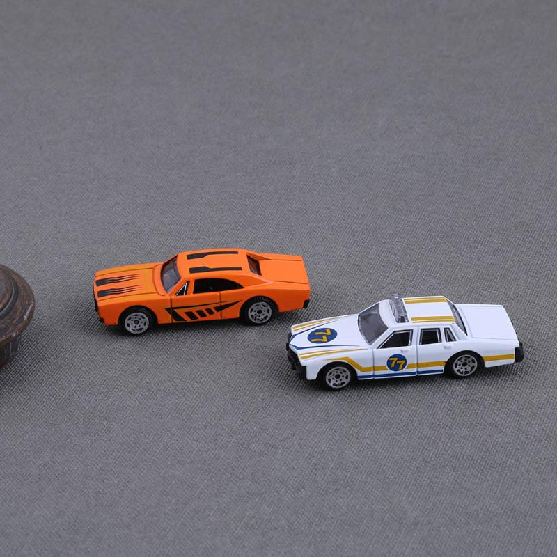 6pcs Mixed Pattern Mini Alloy Car Model Toys Vehicles Car Model Toy Family Interactive Toys for Children Kids Gift Toy Cars