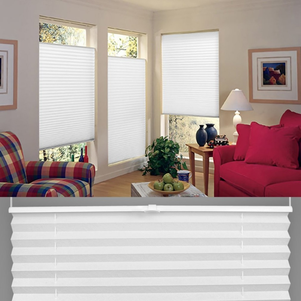 anti uv window blinds pleated original pleated white polyester shade curtains in blinds shades. Black Bedroom Furniture Sets. Home Design Ideas