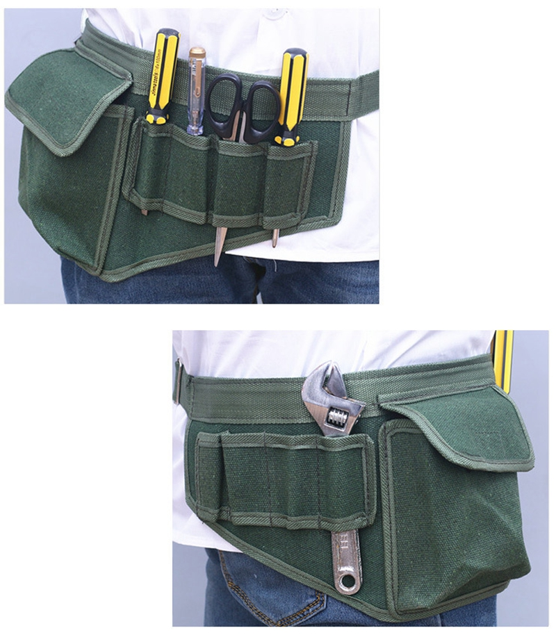 Cheap New Hardware Electrical Tool Bags Adjustable Waist Belt Tools Pockets Construction Packs Thicker Canvas Bag Without Tool