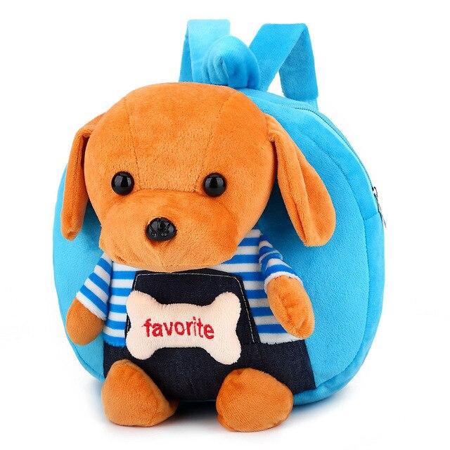 3D Cartoon Puppy Plush Children Backpacks Kids Kindergarten School Bags  Cute Dog Baby for Boys Girls