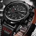 Ochstin hombres del cronógrafo del reloj de los hombres relojes casuales hombres de primeras marcas de lujo reloj de pulsera de cuarzo reloj militar relojes cronómetro 075b