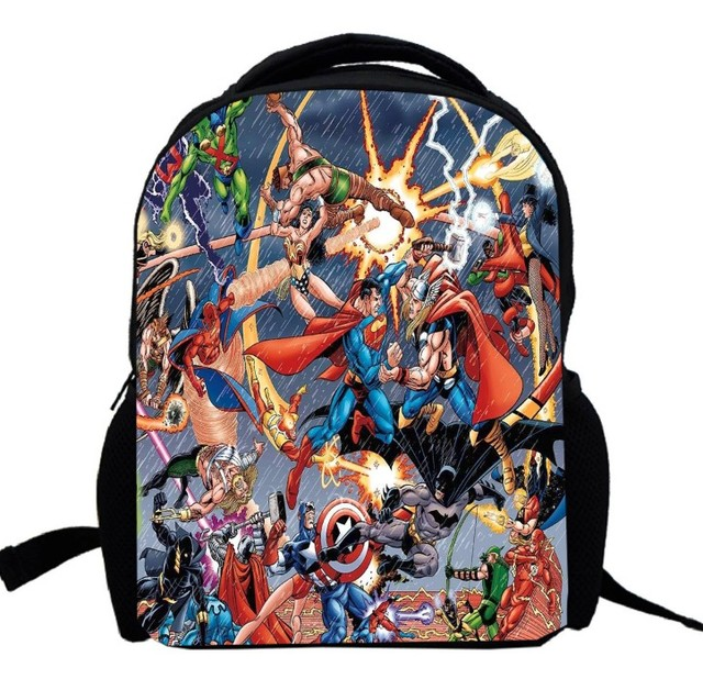 3e9308a849 17inch Marvel s The Avengers Backpack custom made for Boys and Girls Kids  Cartoon movie ironman captain
