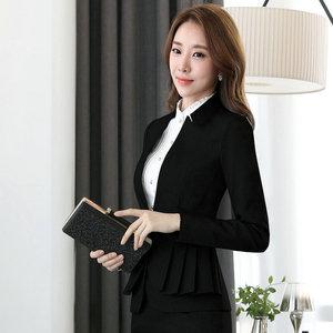 Image 4 - NAVIU Elegant and Fashion Women Blazers Autumn Temperament Long Sleeve Black Gray Jacket Office Ladies Plus Size Work Wear Coat