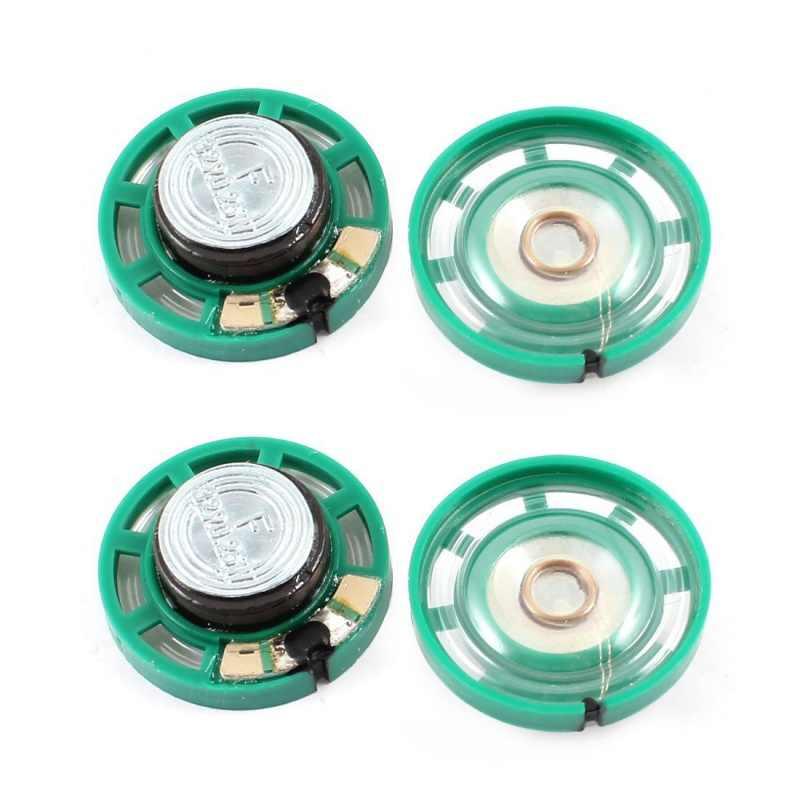 0.25 واط 32 أوم البلاستيك 4 المغناطيسي المتكلم مع 27 مللي متر قطرها الأخضر الفضة