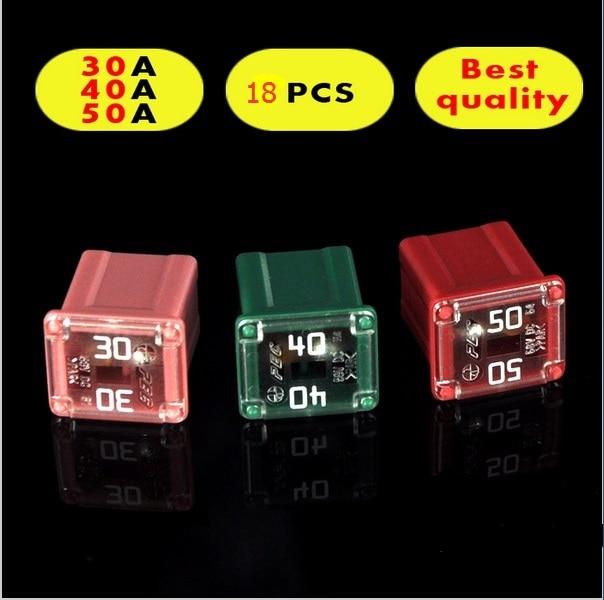 lpj rectangle small type auto fuse 3 model 18pcs 30a 40a