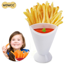 2017 Salad Dipping Cup French Fry Chips Cone Assorted Sauce Ketchup Jam Dip Cup Kitchen Potato Tool