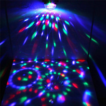 New Arrival 3W 3 LED Mini Fashion Rotating Disco KTV Bar Party Stage LED RGB Crystal Ball laser Light With Remote Control
