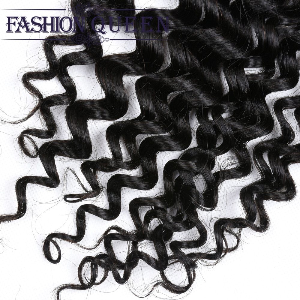 Indian Water Wave Closure Human Hair Lace Closure 4X4 Free Middle Three Part With Baby Hair Wet And Wavy Remy Closure