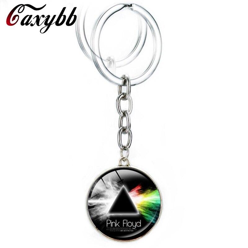 Caxybb Горячая музыка Группа Pink Floyd Логотип Брелоки для автомобиля Hipster Интимные аксессуары Темная сторона брелок для ключей мужские и женские ...