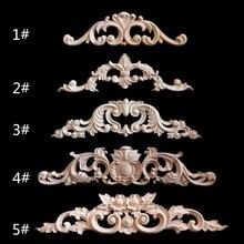 Наклейка с резьбой по дереву угловая рамка аппликации мебель деревянные резные ретро фигурки ремесло для дверей шкафа May06