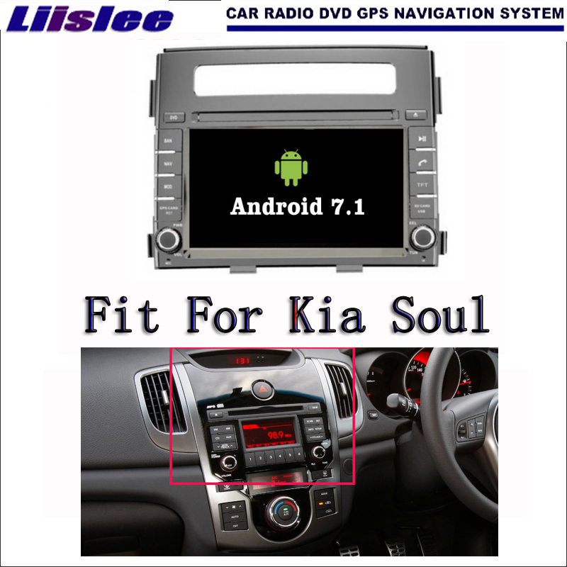 Liislee Android 7.1 2G RAM For Kia Soul 2012~2013 Car Radio Audio Video Multimedia DVD Player WIFI DVR GPS Navi Navigation 22l stainless steel ultrasonic cleaner with timer and heater including washing basket
