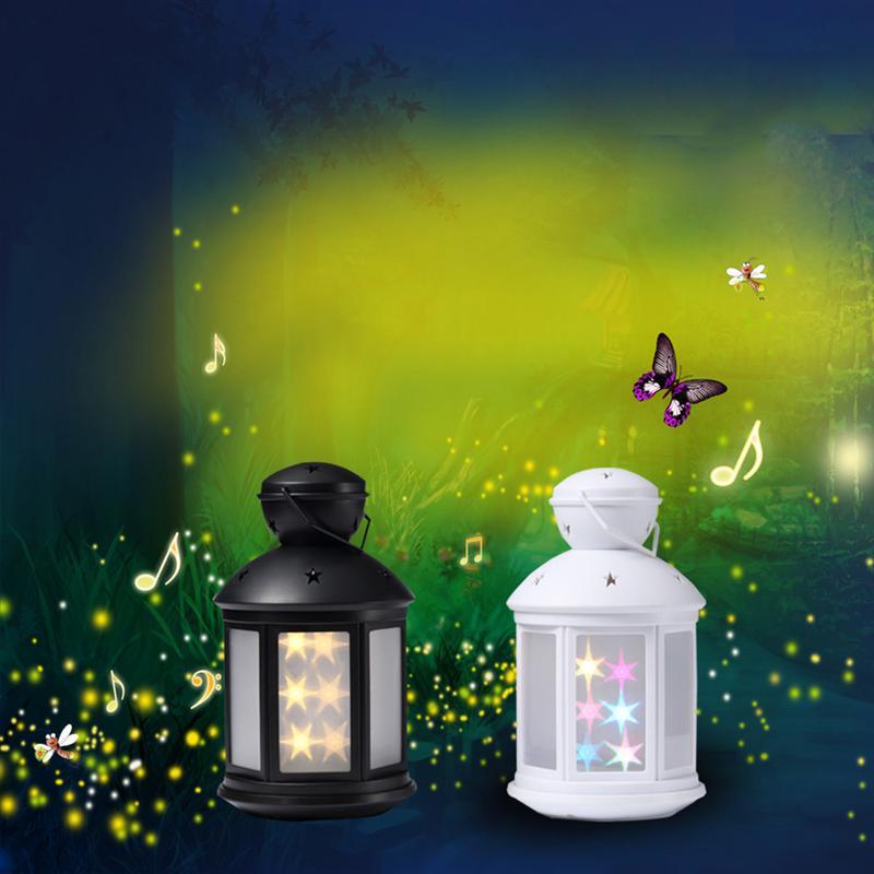 24 LED Black Atmosphere Lamp Table Lamp Bedside Lamp LED Night Light Emergency Lights (White Light)