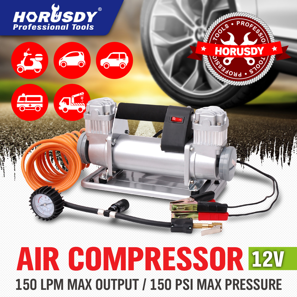 NEW 12v Car Air Compressor 4x4 Tyre Deflator 4wd Portable Inflator 150L new arrival 12v 4800pa ac car electric air pump for camping airbed boat toy inflator