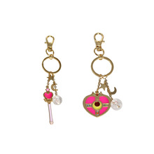 SANSUMMER Heart Magic key Star Moon Young Girl Trendy Sporty Casual Feautiful Japan And Korea Style Key Chains 6477