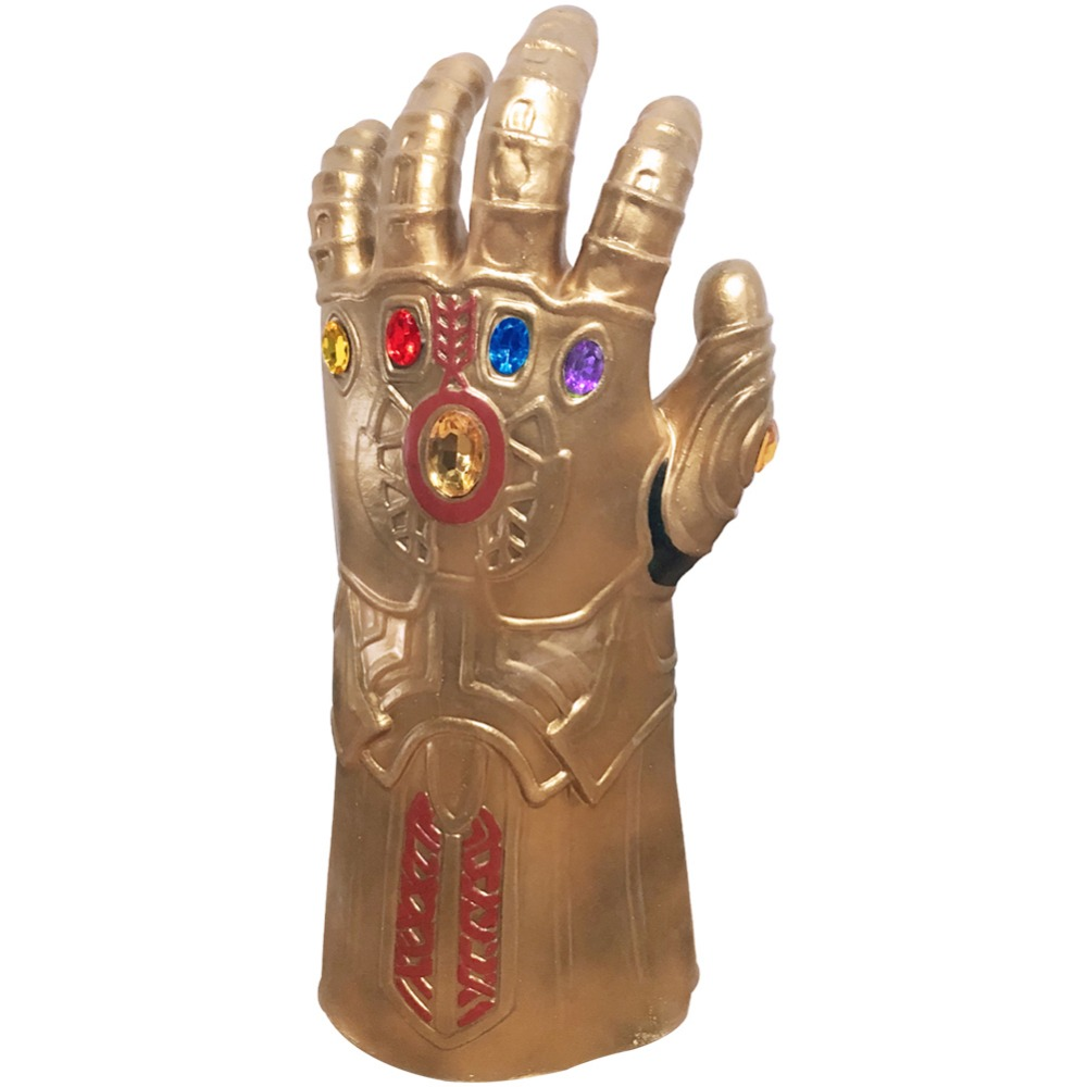 The Avengers Thanos Infinity Gauntlet Cosplay Gloves Prop Latex Fabric For Halloween Carnival Wear