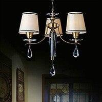 Классический Живопись Медь светодио дный люстра с 3, Главная люстры для Dinnig Гостиная блеск, E27 лампочками