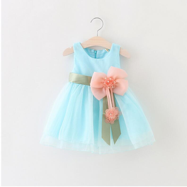 4a0d82b1 2017 Baby Girls Dress Big Bowknot Infant Party Dress For Toddler Girl First  Brithday Baptism Clothes Double Formal Tutu Dresses